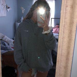 heather grey nike sweatshirt